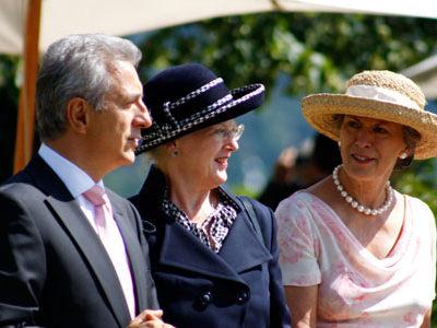 Schloss Eckberg, Dresden, I.M. Königin Margrethe II von Dänemark zu Besuch in Dresden am 23. August 2009